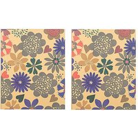 Paperchase Pack of 2 8X10 Wild Flowers Kraft Ruled Notebooks.