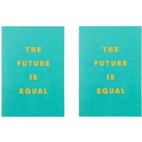 Paperchase Pack of 2 A5 The Future Is Equal Green Notebook.