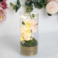 Peaches & Cream LED Tube Light with Orchid Flowers - Mum.
