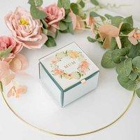 Peaches & Cream Small Glass Trinket Box - Mum.
