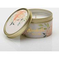 Peaches & Cream Tin Candle - Mum.