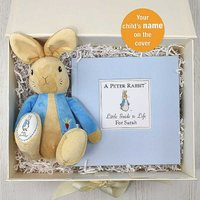Personalised Beatrix Potter Peter Rabbit Guide to Life Book & Plush Toy Gift Set.