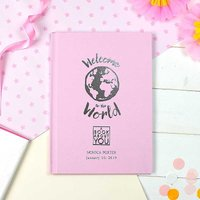 Personalised Book About You: Welcome to the World Hardback Book - Pink.