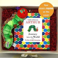 Personalised Eric Carle The Very Hungry Caterpillar Book & Plush Toy Gift Set.