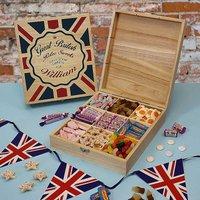 Personalised Great British Retro Sweets Box.