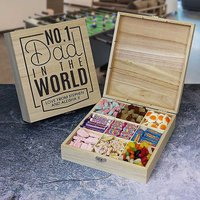 Personalised No. 1 Dad Wooden Retro Sweet Box.