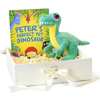 Personalised Perfect Pet Dinosaur Book & Plush Toy Gift Set.