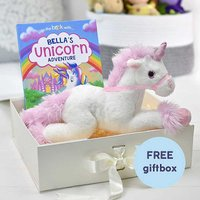 Personalised Unicorn Story Book & Plush Toy Gift Set.