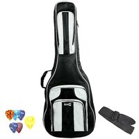 RockJam Deluxe Full Size Acoustic Guitar Bag with Plectrums & Strap.