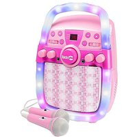 RockJam Karaoke Party Bluetooth Speaker RJPS200 - Pink.