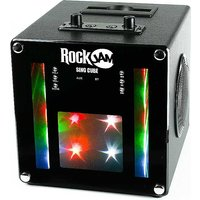 RockJam SingCube LED Bluetooth Karaoke Party Rechargeable Speaker - Black.
