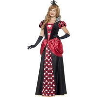 Royal Red Queen Adult Fancy Dress Costume.