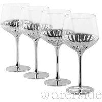 Set Of 4 Art Deco Wine Glasses.