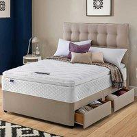 Silentnight Miracoil Geltex Pillowtop Divan Set.
