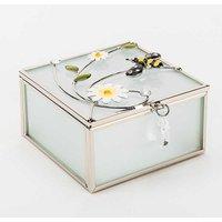 Sophia Classic Glass & Wire Bumble Bee Square Trinket Box.