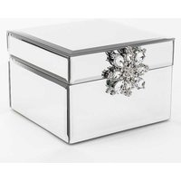 Sophia Mirror Glass Jewellery Box with Crystal Bow.
