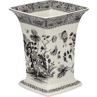 Spode Black Italian Square Vase.