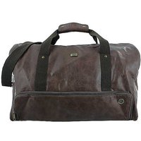 STORM London Mens Norton Brown Faux Leather Holdall Bag.