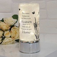 Thoughts of You Memorial Glass Light Tube - Heaven.