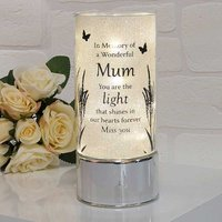 Thoughts of You Memorial Glass Light Tube - Mum.