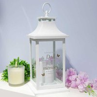 Thoughts of You White Memorial Lantern - Dad.