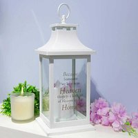 Thoughts of You White Memorial Lantern - Home.