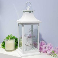 Thoughts of You White Memorial Lantern - Still Missed.