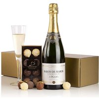 Virginia Hayward Champagne & Chocolates in a Gift Box.