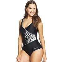 Zoggs Skin Deep Wrap Front Swimsuit.