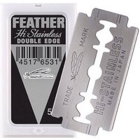 'Edwin Jagger Feather Hi Stainless Double Edge Safety Razor Blades 5pcs