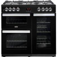 Belling 444444071 CookCentre 90cm Dual Fuel Range Cooker - Black