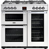 Belling 444444069 CookCentre Professional 90cm Dual Fuel Range Cooker - Stainless Steel