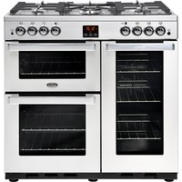 Belling 444444075 CookCentre Professional 90cm Gas Range Cooker - Stainless Steel