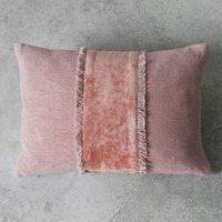Ariel Embellished Fringe Cushion - Blush