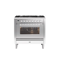 Ilve P096WE3/SS Roma 90cm Dual Fuel Range Cooker - Stainless Steel