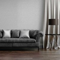 'Kate' Textured Wallpaper - Silver