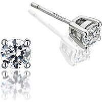 9ct White Gold 0.50ct Diamond Solitaire Earrings