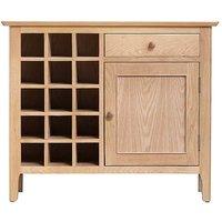 Bakken Oak Wine Rack Drinks Bar Cabinet