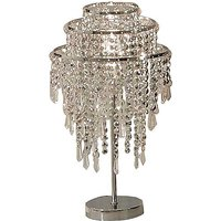 Beaded Silver Table Lamp