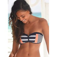Block Stripe Bandeau Bikini Top by KangaROOS