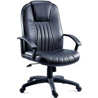 City Leather Office Chair by Teknik