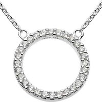 Cubic Zirconia Open Circle Necklace by Dew