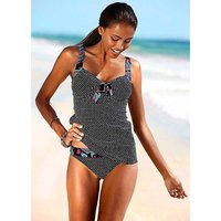 Dotty Black Tankini Set