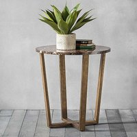 Emperor Round Marble Side Table by Hudson Living