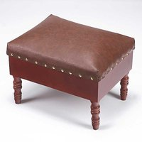 Faux Leather Storage Footstool
