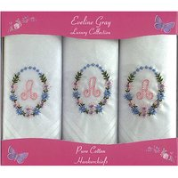 Ladies Triple Pack of Initial Hankies