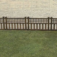 Pack of 4 Bronze Finish Fence Panels