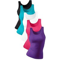 Pack of 5 Double Rib Vests by Petite Fleur