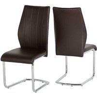 Pair of Milan Faux Leather Dining Chairs