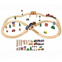 Personalised 49 Piece Wooden Train Set